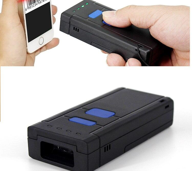 1D Laser Sem Fio Bluetooth Barcode Scanner Para A Apple Ios Android