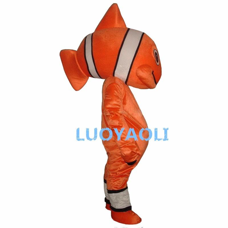 New Professional Nemo Peixe Unisex Adulto Tamanho Do Traje Da Mascote Fancy Dress