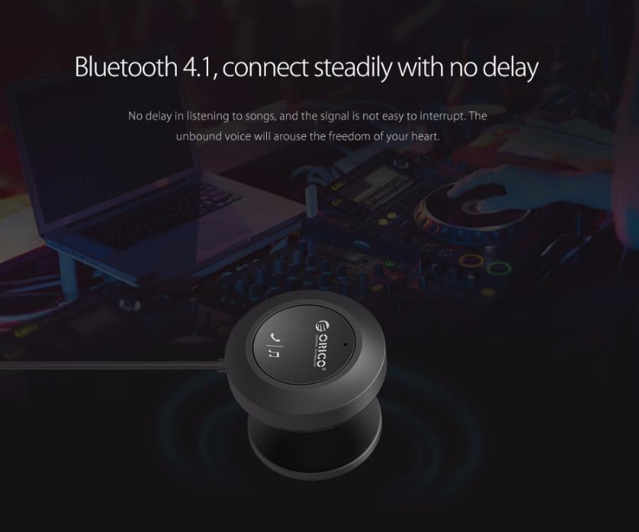 Orico Bcr02 Receptor Bluetooth Car Kit Adaptador Usb 4.1 Wireless Speaker Cabo De Áudio Gratuito Para Iphone Handsfree