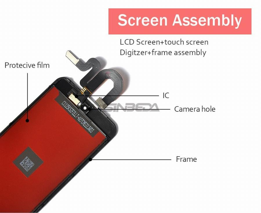 Sinbeda Para Ipod Touch 5Th 5 Display Lcd + Touch Screen Digitador Assembléia Painel Para Ipod Touch 6 6Th Lcd Tela Para Ipod Tela 5