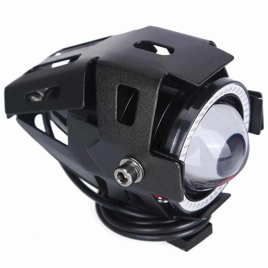 2 Pcs Motocicleta Led Farol Nevoeiro Luz Com Interruptor Led Cree Chip U7 125 W 3000Lm Devil Angel Eye Drl Daytime Running Luz Spot