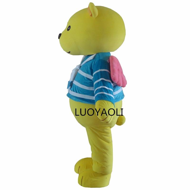 Custome New Style Brown Teddy Bear Mascot Costume Adult Size Fancy Dress Dos Desenhos Animados Outfits Character Suit