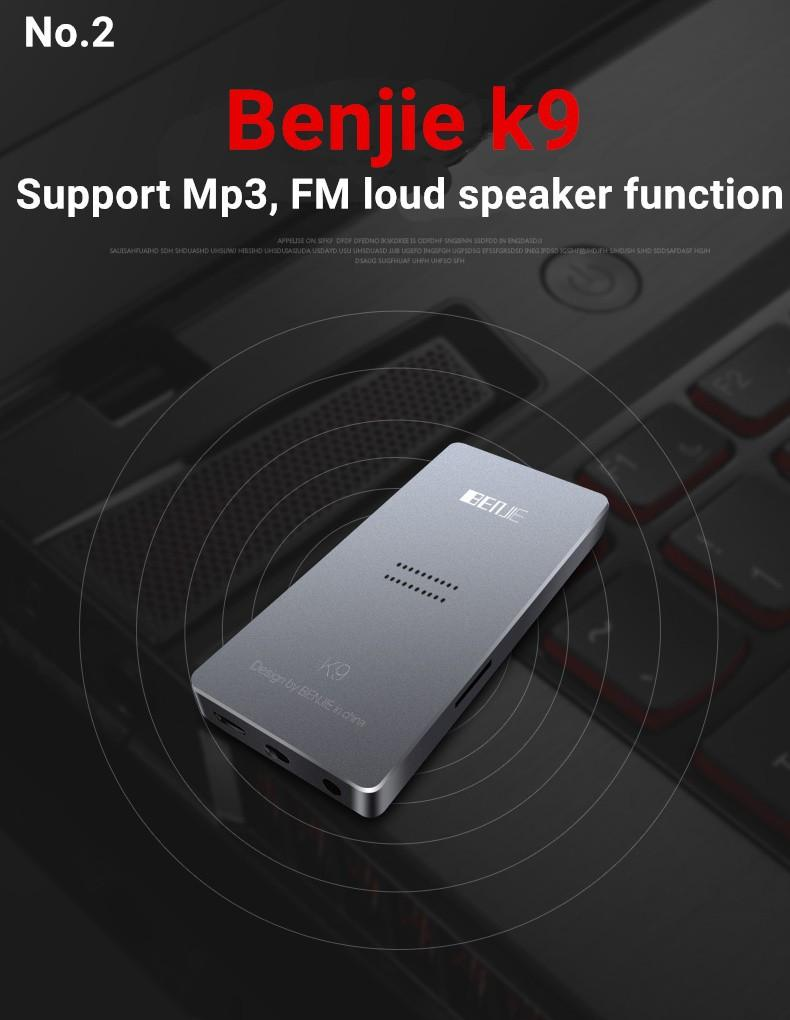Liga Speaker Sports Mp3 Music Player 8 Gb Tela De 1.8 Polegada Benjie Original K9 Alta Qualidade Lossless Hifi Fm Gravador De Voz Rádio