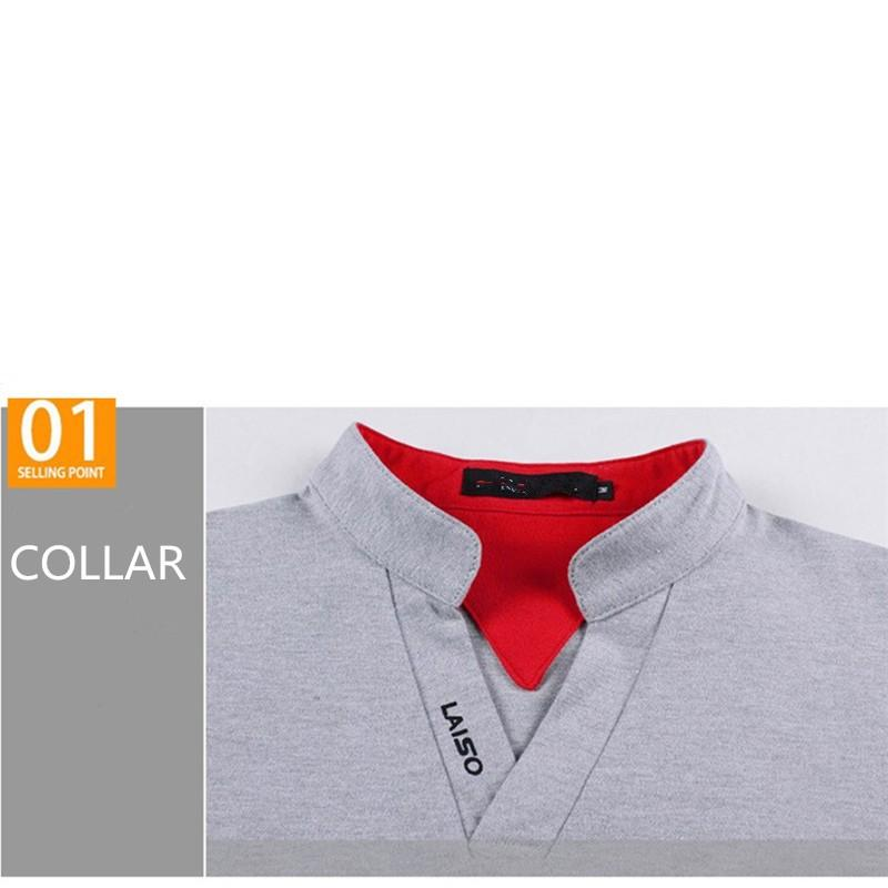 Marca New Mens V Neck Manga Curta Camisa Polo Sólida Top De Algodão Plus Size 5 Cloors Standing Collar Verão Logotipo Polo 5Xl