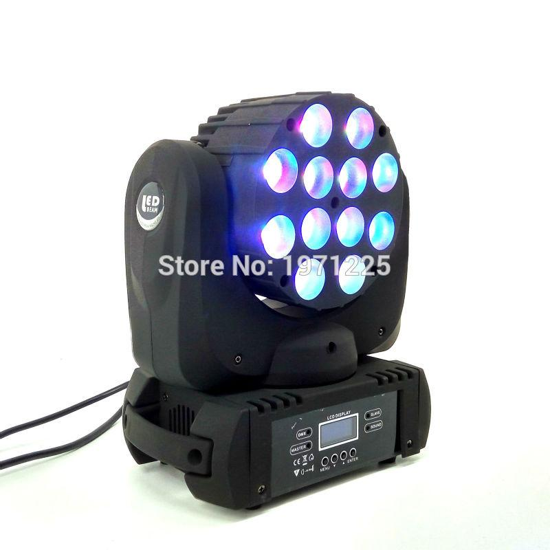 12X12 W Rgbw 4In1 Cree Led Moving Head Beam, Led Com Excelente Pragrams Dmx 9/16 Canais Dj