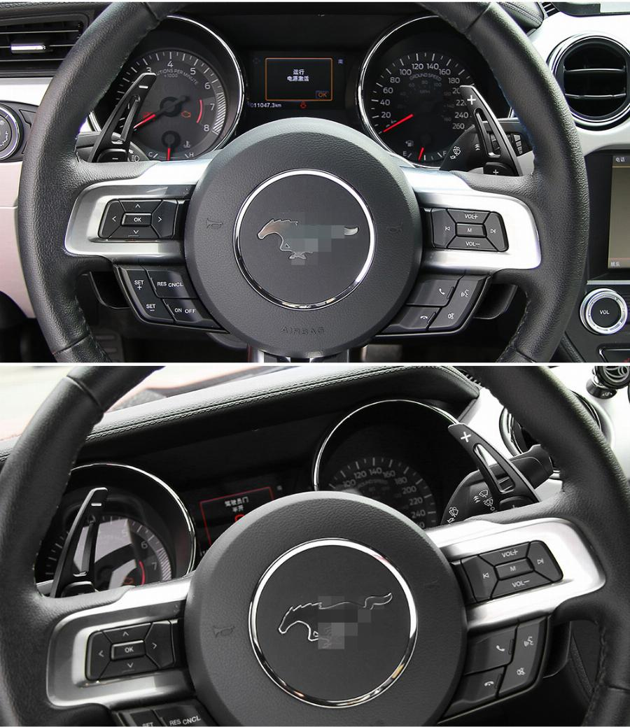 Estilo Do Carro De Alumínio Volante Paddle Shift Shifter Para Ford Mustang 2015 +