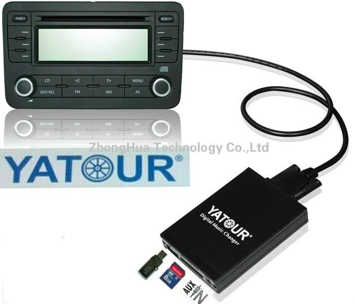 Yatour Música Digital Interface De Áudio Do Carro Usb Sd Aux Adaptador Bluetooth Para 1998-2004 Honda Acura (Usb Sd Aux Slot)