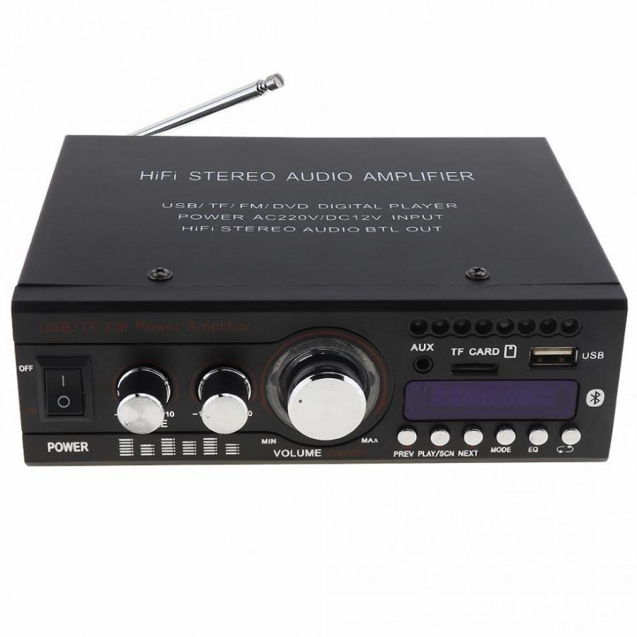 Kentiger Dc12V/ac220V/ac110V 2Ch Bluetooth Hi-Fi Estéreo Do Carro Amplificador De Potência De Áudio Digital Player Suporte A Usb/sd/fm/dvd