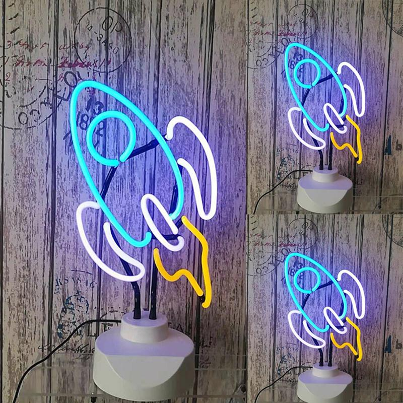 Neon Led Night Light Table Lamp Holiday Party Decoração Flamingo Sorvete Candeeiro De Mesa Presente Do Dia De Natal De Néon De Vidro Luz