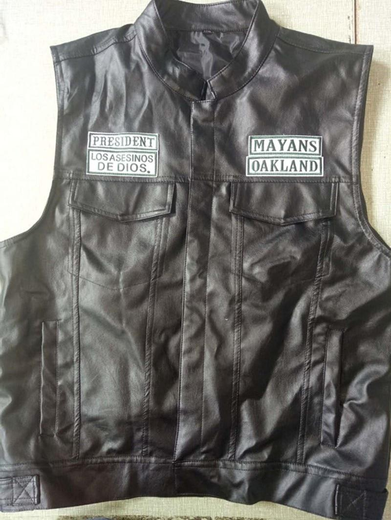 Sons of Anarchy Vest Leather Rock Punk Jacket Cosplay Costumes Harley Motorcycle
