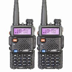 2 Peças/lote Brand New Baofeng Uv-5R Interphone Vhf 136-174 Mhz & Uhf 400-520 Mhz Uv5R Dual Band Dupla Afixação Walkie Talkie