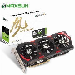 8000 Mhz Maxsun Nvidia Geforce Jetstream Gtx1060 6 Gb 192Bit Pci-E Placa De Vídeo Gpu Gddr5 Express3.0 Vr Pronto Para Pc Gaming