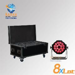 8X Lot Dropshipping 18*15 W Rgbaw 5In1 Rgbaw Led Par Can Led Par Light. Stage Led Par Luz Com 8Em1 Caso Estrada Com Powercon