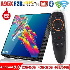 A95x r3 smart android caixa de tv android 9.0 rockchip rk3318 2.4g/5g wifi bt4.0 4gb 64gb google player conjunto caixa superior