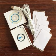 Acr122U Nfc Contactless Smart Card Reader & Escritor Rfid Porta Usb + 5 Pcs Cartões Ic + Sdk