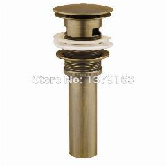 Antique Brass Pop Up Ralo Da Pia Large Cap Rodada Banheiro Com Overflow Tsd003
