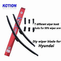 Car Windshield Wiper Blade Para Solaris Hyundai, Elantra, Sonata 8, I10, I20, I30, I40, Ix20, Ix25, Ix35, Tucson, Accent, Getz, Borracha Natural