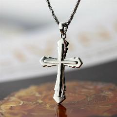 Christian Jesus Pingente Fashion Women & Men Jewerly Pingente Cruz Colares Genuine 925 Prata Clássico Colar De Jóias Mens