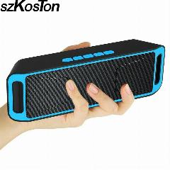 Dual Speaker Portátil Bluetooth 4.0 Wireless Speaker Tf Usb Rádio Fm Som Baixo Subwoofer