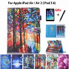 399c71b2476 Fashion Case Para Apple Ipad 9.7 2017 2018 Air 1 Ar 2 Funda Tablet Silicone  Pu Leather Inteligente Case Capa Fique Shell + Film + Pen