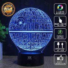 Lâmpada Star Wars Death Star 3D Bb-8 Lâmpada Led Novelty Night Lights Luz Usb Glowing Presente Da Criança Hui Yuan Marca