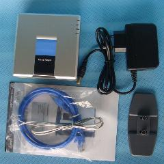 Nova Cisco Spa2102 Linksys Adaptador De Telefone Voip Com Router Spa2102-Na Unlo
