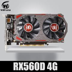 Placa De Vídeo Veinida Radeon Rx 560D Gpu 4 Gb Gddr5 128 Bit Placa De Vídeo Do Computador Desktop Placas Gráficas Pci Express3.0 Para Cartão Amd