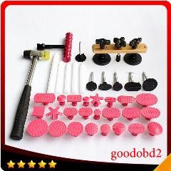 Ponte Extrator Lifter Pdr Paintless Dent Repair Tool T-Bar Do Carro Reparação Dent Extrator + 24 Pcs Cola Tabs + Martelo De Borracha + 5 Pcs Caneta De Toque Para Baixo