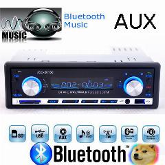 Rádio Stereo Bluetooth Aux Mp3 Fm / Usb / 1 Din / Remoto Para Iphone 12 V Do Carro Auto