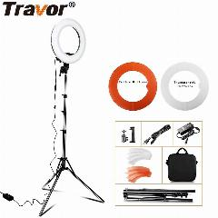 "Travor Luz Anel 12 ""anular Make-Up Lâmpada Dimmable Led Ring Light Com Tripé Para Câmera Fotográfica/ Estúdio/telefone/vídeo/fotografia"