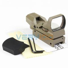 Very100 Holográfica Mira Verde Red Dot Sight Com 4 Reticle Reflex Scope Apto Para 20Mm Rail Gun Tan Cor