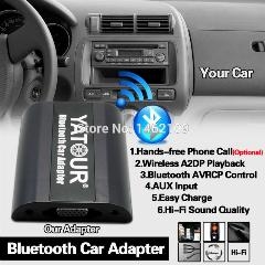 Yatour Bluetooth Adaptador Para Carro Digital Music Cd Changer Cdc Conector Para Toyota Corolla Verso Fj Crusier Hiace Fortuner Rádios