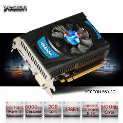 Yeston Rx 550 Gb Gddr5 2 128Bit Gpu Radeon Placas Gráficas De Vídeo Do Computador Desktop De Jogos Pc Apoio Dvi-D/hdmi Pci-E 3.0