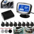 À Prova De Intempéries 8 Front Rear View Carro Sensores De Estacionamento Sistema De Veículos Auto Reverso Kit Radar Backup Com Display Lcd Monitor