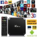 Blackgik X96Mini Android 9.0 Conjunto Superior Caixa De Tv Amlogic S905W Quad Core 2 Gb 16 Gb 2.4/5.0 Ghz Duplo Wifi 4 K Hd 3D Caixa De Mídia Inteligente