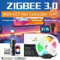 Gledopto zigbee3.0 smart pc tv strip controlador pro kit mini 5v usb rgbcct trabalhar com amazon eco mais app/voz/controle remoto