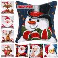 Ladiy Cross Stitch Patterns Santa Fronha Almofadas Para Sofás Dmc Contados Cross-Stitch Kits De Natal Decorati