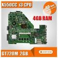 Para Asus X550Cc X550Cl R510Cc Ddr3 Fit X550Cc X550Vb Gt720M 2 Gb I3 Cpu Hm76 Laptop Motherboard Rev: 2.0 Pn: 60Nb00Wa 100% Testado