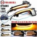 Para audi a4 a5 s5 b8.5 rs5 rs4 rolo dinâmico led turn signal light espelho lateral flasher repetidor 2013 2016