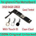 Para Iphone 6 Plus Motherboard Sem Toque Id/com Toque Id, Original Desbloqueado Para Iphone 6 Mais Mainboard 16 Gb/64 Gb/128 Gb